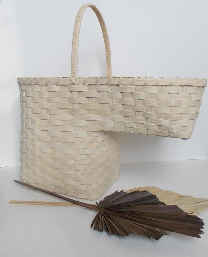 Beautiful Hand Woven Stair Step Basket