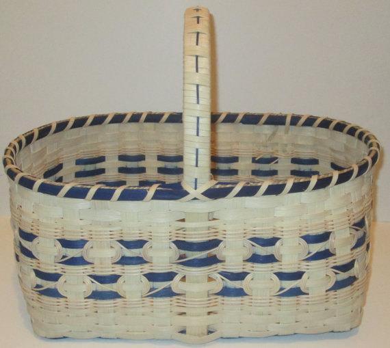 Woven Market Basket, Large Picnic Basket