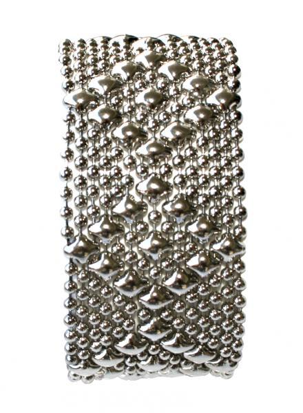 700e28a9702 SG Liquid Metal Medium Diamonds Mesh Cuff Bracelet by Sergio Gutierrez B9