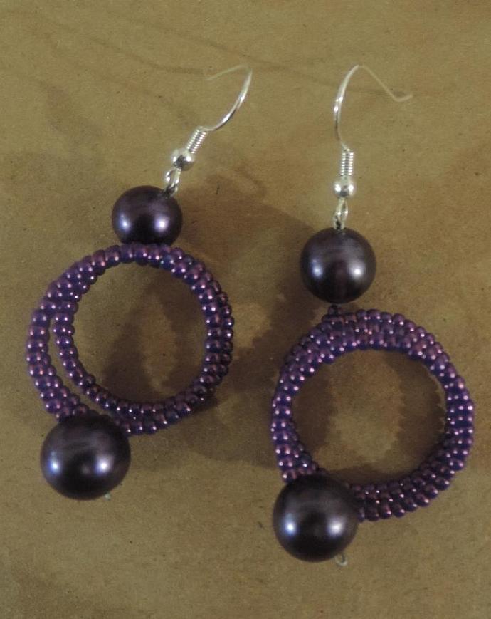 Purple Spring earrings