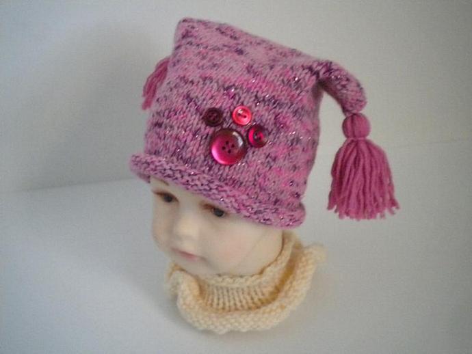 Infant Girlie Girl Tassel Hat