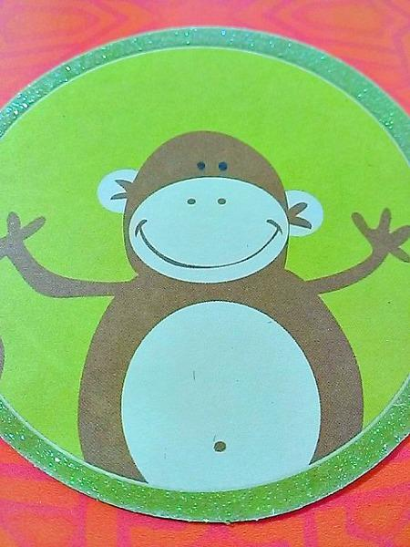 Arabic Hugging Birthday Monkey Card