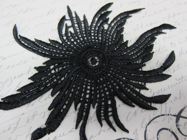 Carnival Flower Venice Appliques - Black stl