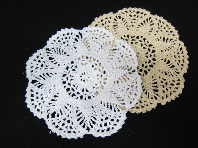 2pcs Circle Doilie - White/Cream