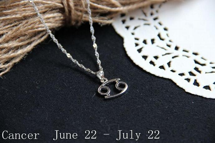 Cancer Necklace, Cancer Zodiac, Cancer Charm Necklace, Cancer constellation,