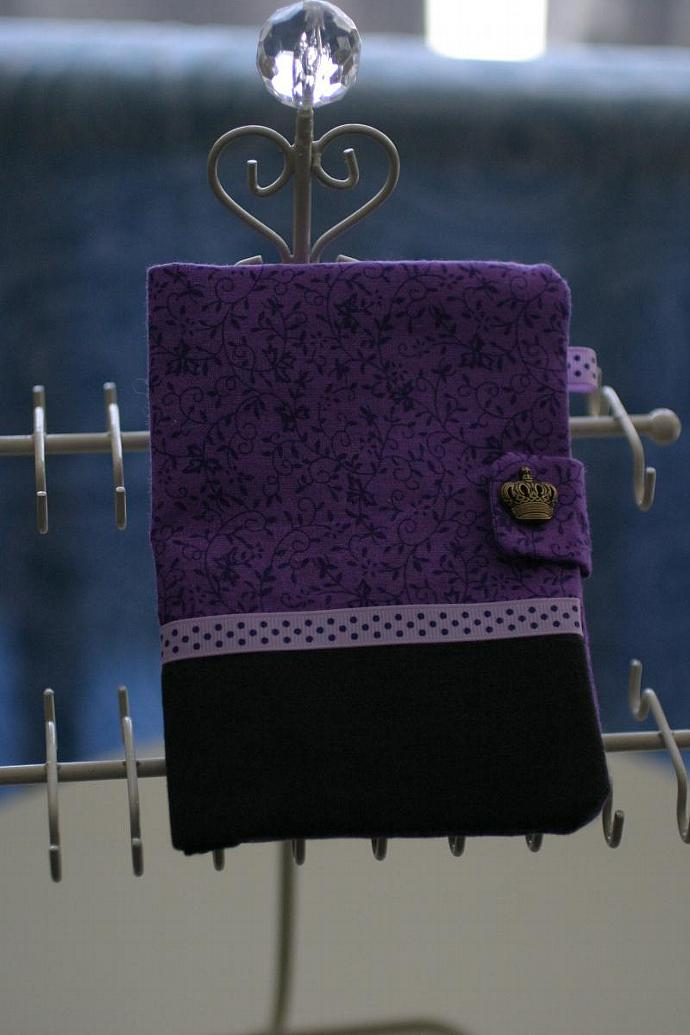 Passport Holder - purple crown