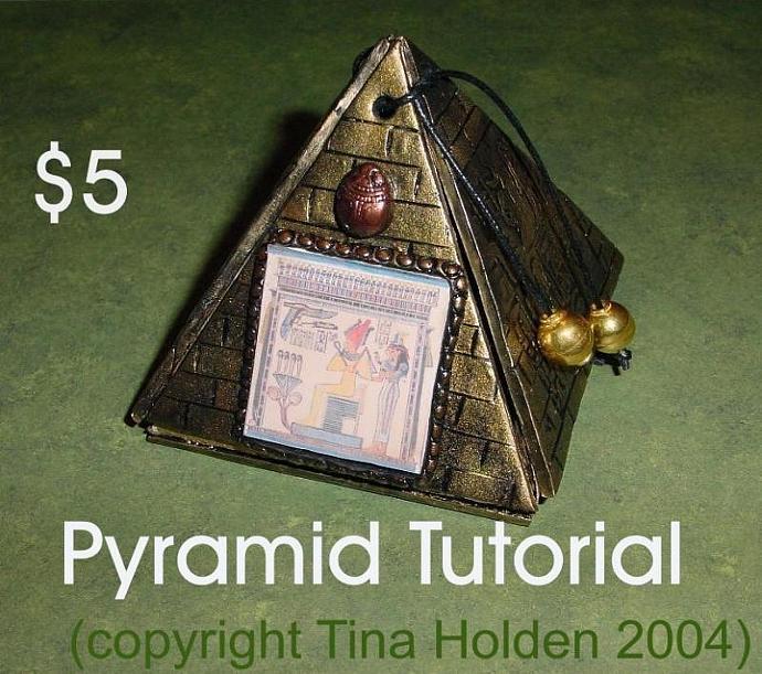 pdf tutorial pyramid box mixed media by beadcomber on zibbet