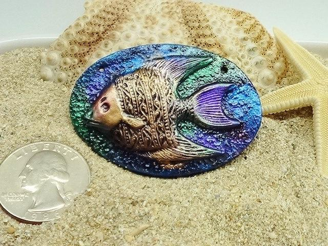 Angelfish Pendant or Cabochon - handmade