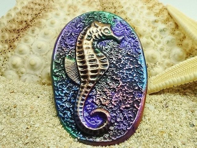 Seahorse Cabochon - handmade