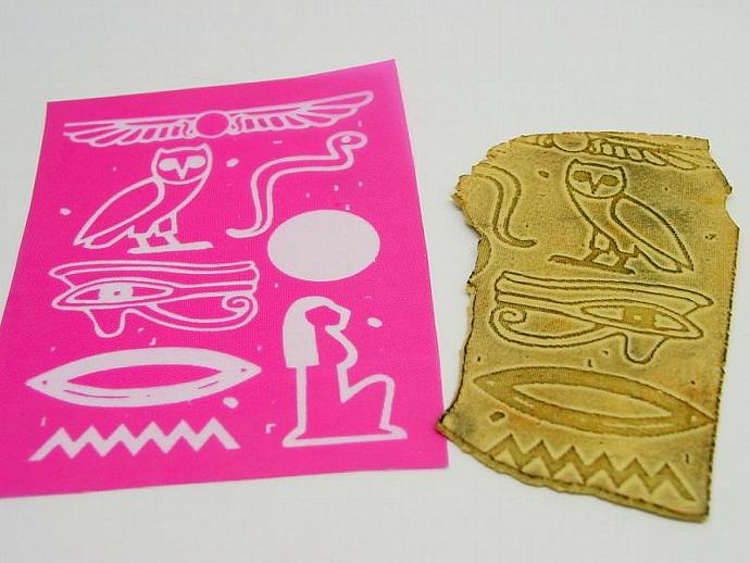 Egyptian Hieroglyph Silkscreen for Polymer clay and more