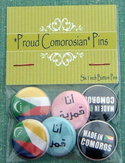 Proud Comorosian Pins