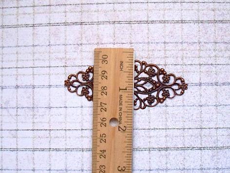 6 pcs. Copper Filigree 8x3.5cm. Item# FLC-01