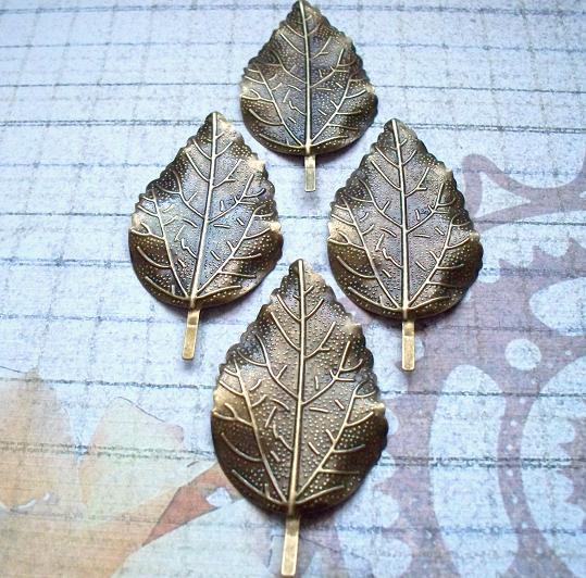 4 pcs. Antique Bronze Filigree 6.6x3.3cm Item# FL-01