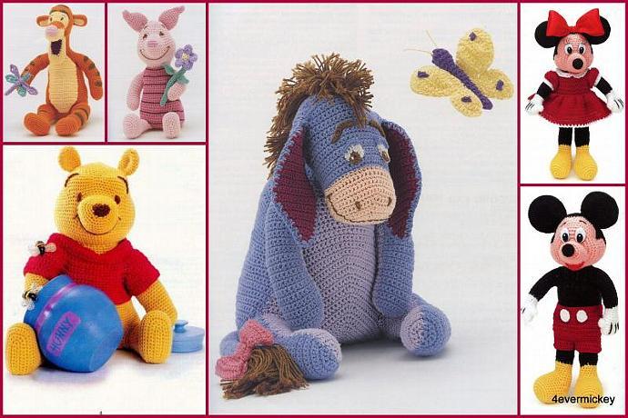 6x Disney Crochet Patterns Cute Gifts To Do By Beads4u On Zibbet