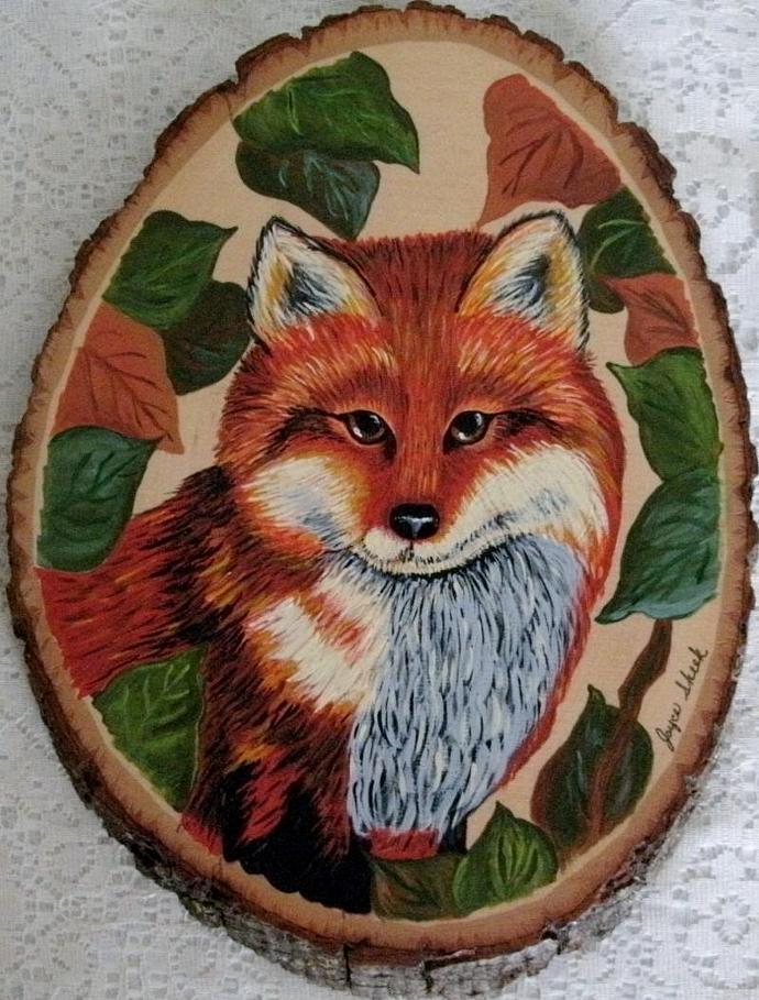 Fox Painting, fine art, original, woodland, rustic, animal, nature, wildlife,