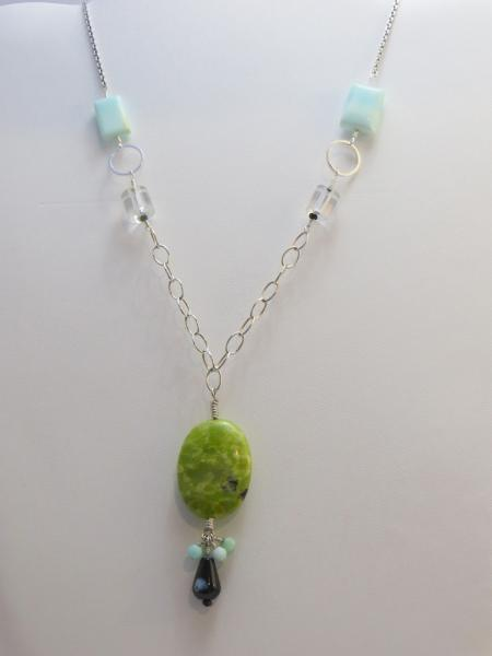 Chrysoprase and Amazonite Necklace