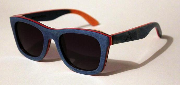wood sunglasses skateboard surf