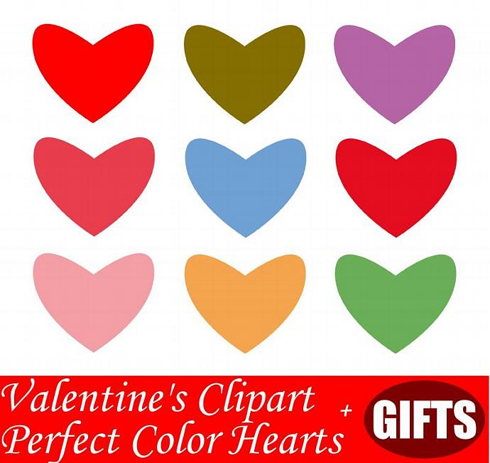 Pastel Heart Clip Art Scrapbook Craft Supplies Clipart Love Note Rainbow