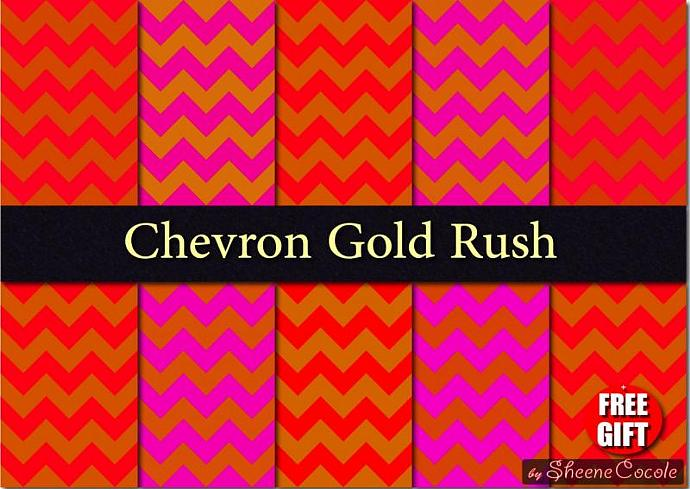 Red Purple And Gold Chevron Digital Fabric Print By Digift On Zibbet