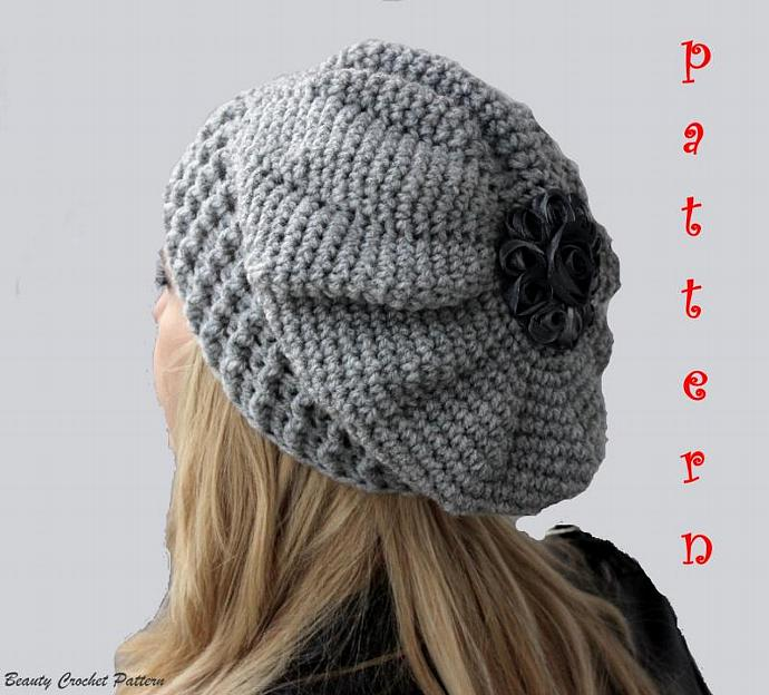Crochet Slouchy French Beret Hat Pattern Crochet French Oversize Beret  Pattern 64fa5ffca6a