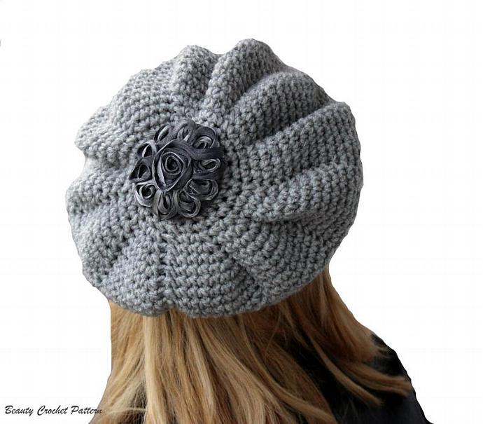 Crochet Slouchy French Beret Hat Beautycrochetpattern