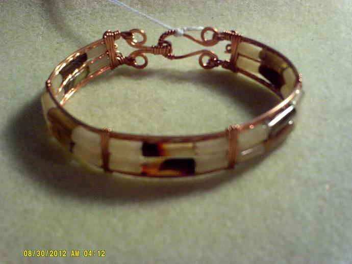 Copper Wire wrapped bracelet-Item # 0165