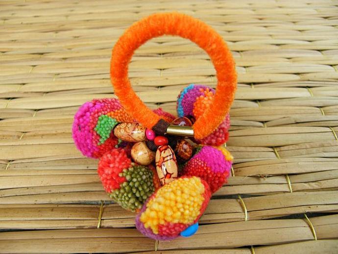 Lisu Style/ Hair bands/ Colorful/ Applique (Elastic hair bands)