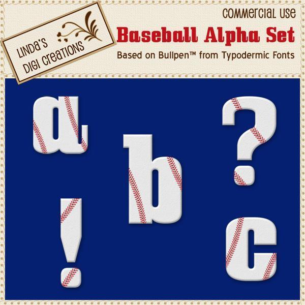 Baseball Alpha Set