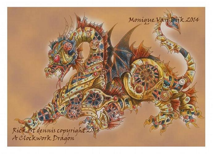 A Clockwork Dragon for Monique Digi Stamp