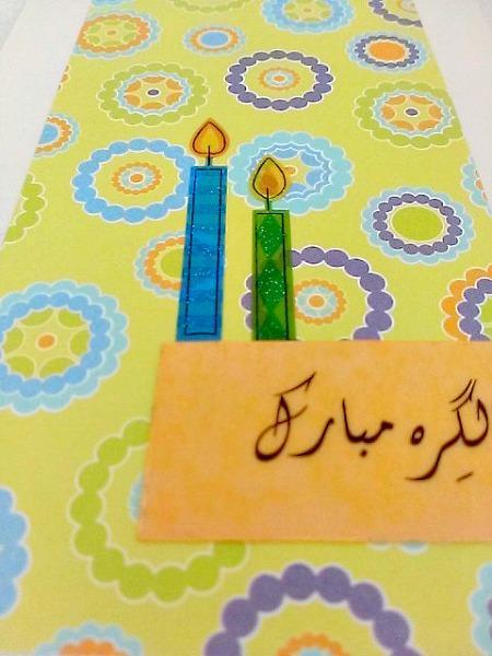 Candle Birthday Card in Urdu