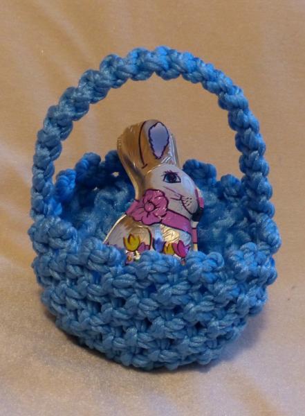 Macrame easter basket blue easter lauriescreations macrame easter basket blue easter basket easter gift for boy gift for negle Images