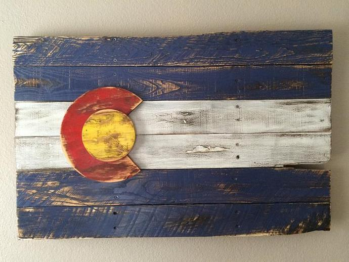 Distressed 3D Colorado Flag Wall Art & Distressed 3D Colorado Flag Wall Art by cmoodie124 on Zibbet