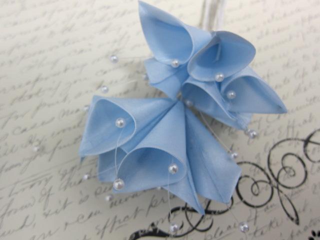 6pcs Large Satin Calla Lily Flower Lavender, Blue