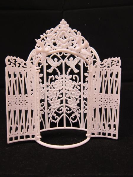 2pcs Wedding Arch/Victorian Screen Background Gate - White