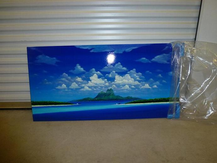 "Painting Massimo Meda  ""La Polinesia"""