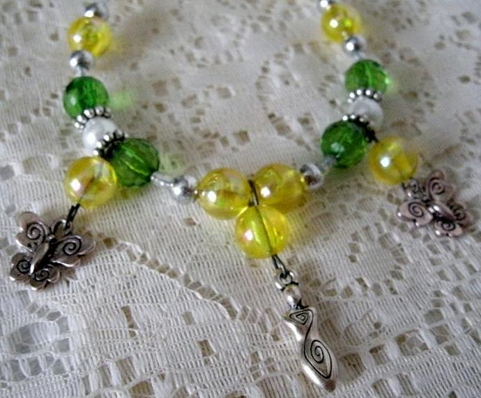 Nature Goddess Bracelet, wiccan jewelry pagan jewelry goddess jewelry wicca