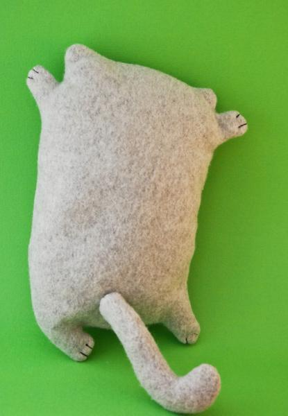 Happy cat, fleece toy