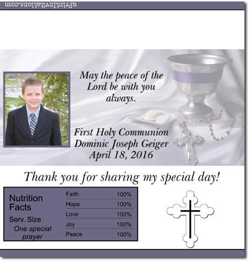 Communion Candy Bar Wrappers **DOWNLOAD JPG IMMEDIATELY**
