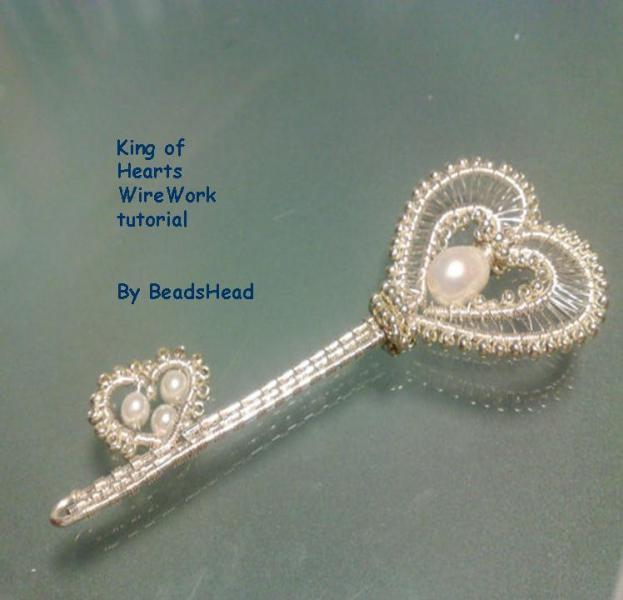 Wirework Tutorial - King of the hearts Key - wire wrapped pendant