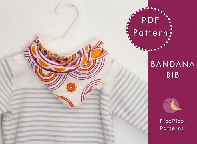 Sewing Baby Pattern Bandana Bib Pdf Baby Scarf Picopico
