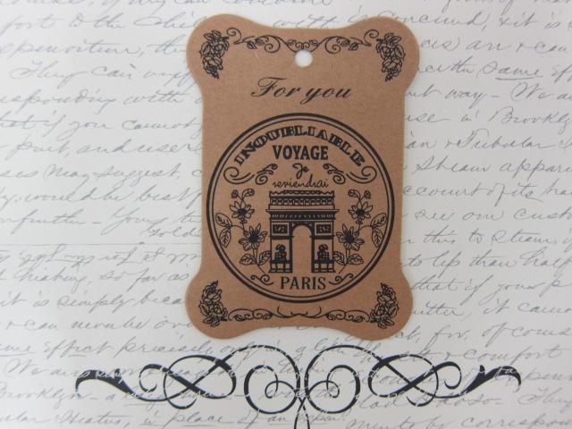 10pcs Fancy Chipboard Tags - Voyage