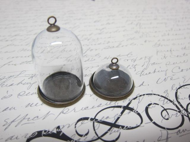 2pcs Glass Dome - Clear
