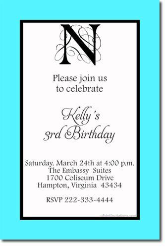 Monogram Invitations *ANY COLOR SCHEME* (Download JPG Immediately)