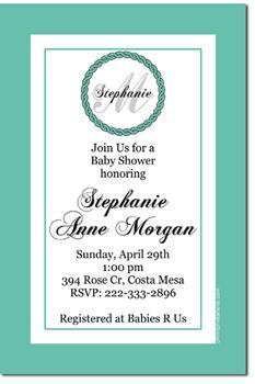 Monogram Baby Shower Invitations *ANY COLOR SCHEME* (Download JPG Immediately)