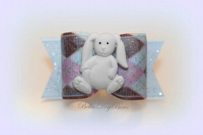 Argyle Easter Bow with Baby Bunny embellishment. How cute ...