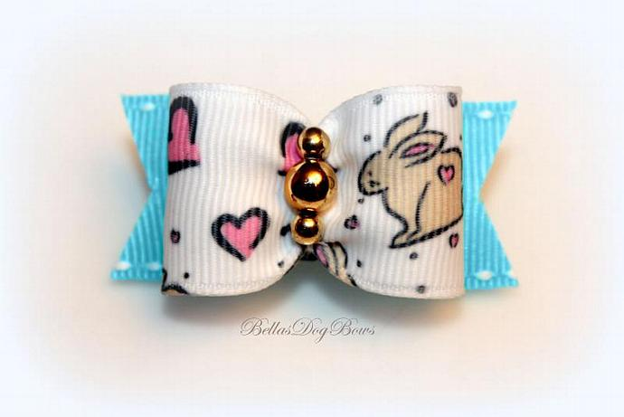 Easter Bow (Bunny Love) ~ Blue