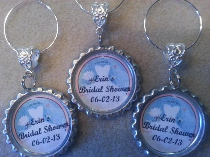 wine theme bridal shower wine charms and favors