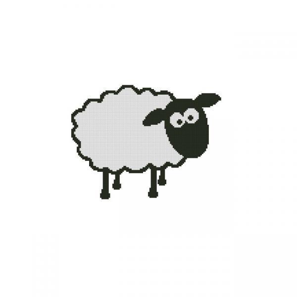 ALL STITCHES - SHEEP CROSS STITCH PATTERN .PDF -999
