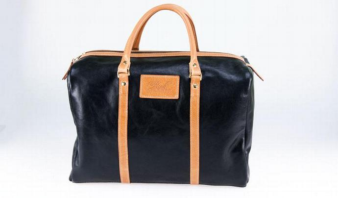 Leather Overnight Bag - Two Tone Buffalo Hide Overnight Bag - Made in Australia