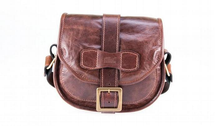 Leather Shoulder Bag - Womens Cow Hide Saddle Bag - Made in Australia